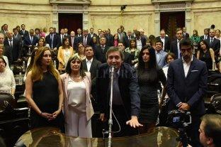 "Diputados: Máximo Kirchner juró con una fórmula ""ricotera"" -"