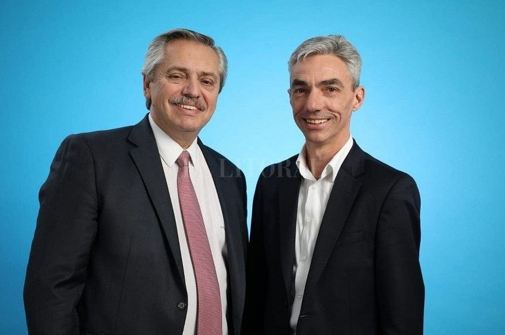 Alberto Fernández junto a Mario Meoni. <strong>Foto:</strong> Captura digital