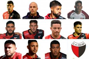 """Los lesionados y borrados de Colón  """"arman"""" un equipo entero  - El 11 de los lesionados y borrados que podría armar Colón. Sólo resta un jugador en la posición de arquero."""