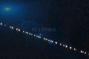 """Una """"fila de satélites"""" sorprendió a los habitantes de la región cordillerana"""