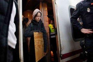 Greta Thunberg llegó en tren a Madrid para participar de la Marcha por el Clima