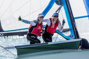 Las argentinas Victoria Travascio y Sol Branz avanzan en la Copa del Mundo de Vela en Nueva Zelanda