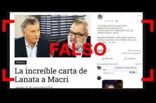 Es falsa la carta de Lanata a Macri que se viralizó en redes sociales -  -