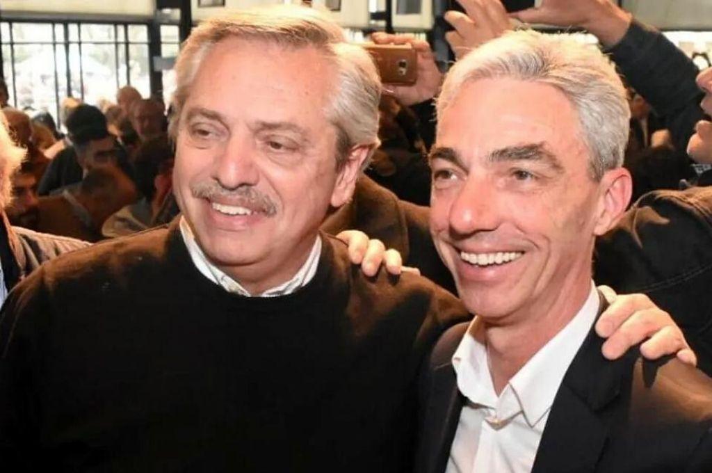 Alberto Fernández junto a Mario Meoni.    <strong>Foto:</strong> Gentileza