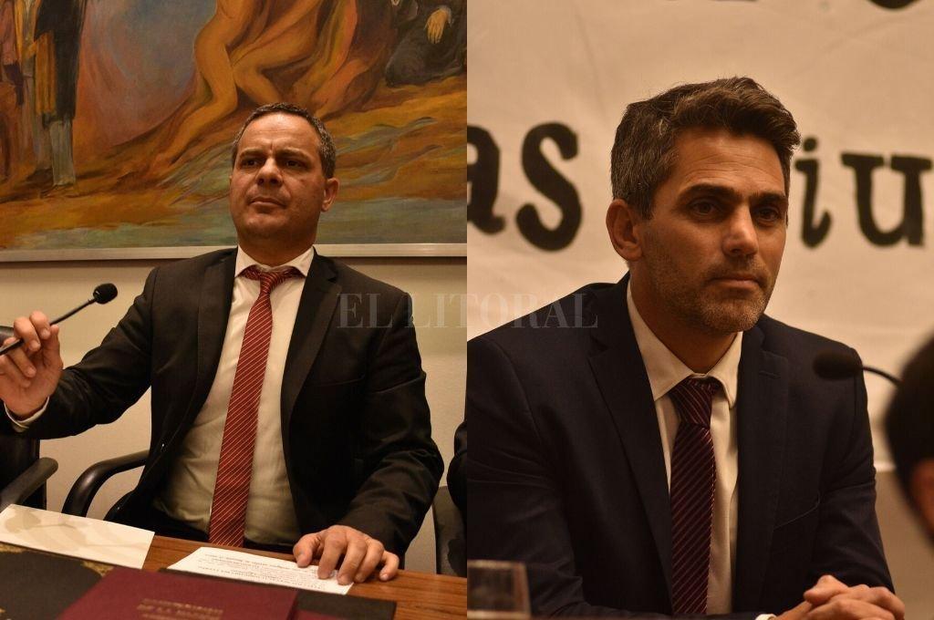 Leandro González (FPCyS), nuevo presidente del Legislativo. Juan J. Saleme (PJ), nuevo concejal de la ciudad. <strong>Foto:</strong> Guillermo Di Salvatore