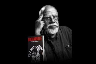 """Rocambole: """"Arte, diseño y contracultura"""" - Rocambole y el libro, que llen en la portada una imagen que realizó a las apuradas y terminó en banderas y tatuajes. -"""