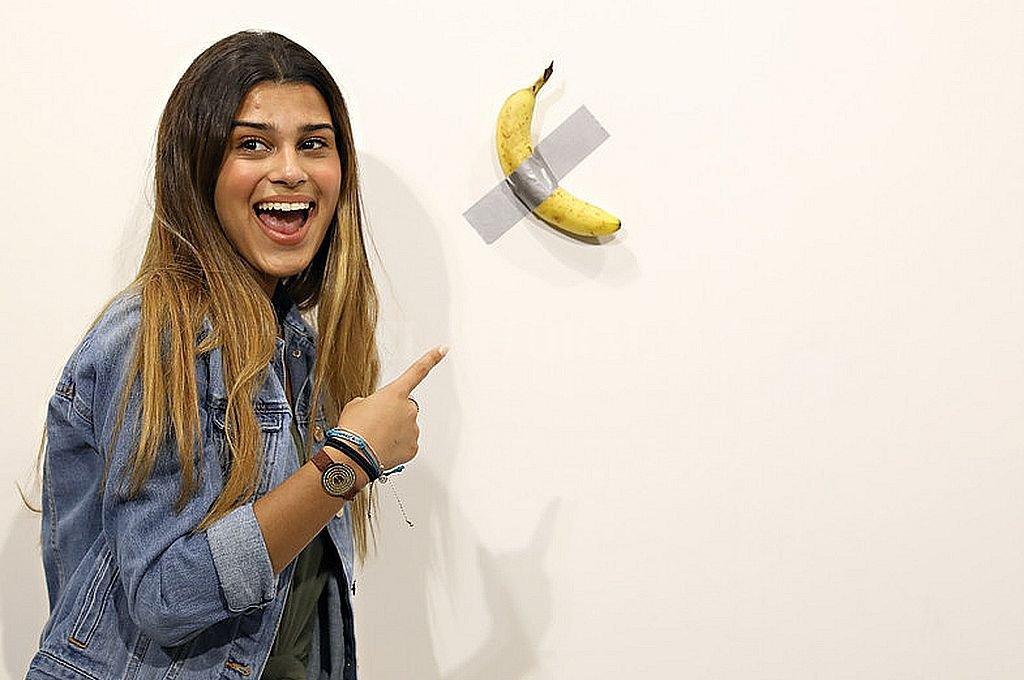 Un hombre se comió la banana valorada en 120 mil dólares