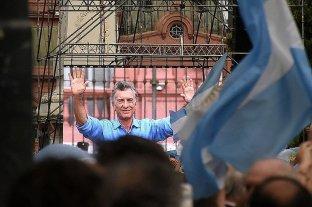 Mauricio Macri se despidió en Plaza de Mayo