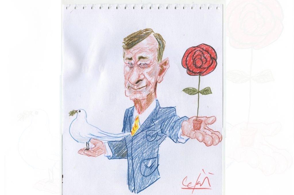 El rostro del socialismo es Hermes Binner. <strong>Foto:</strong> Archivo El Litoral - Ilustración Lucas Cejas