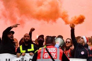 Quinto día de huelga general en Francia