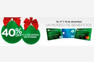 Para Navidad, Banco Santa Fe ofrece descuentos de hasta el 40% y cuotas sin interés -