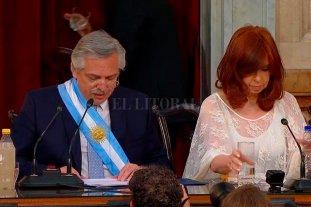 ¿Qué palabras usó Alberto Fernández en su discurso de asunción? -  -