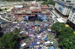 Desde el aire: así se ve Plaza de Mayo desde el drone de El Litoral -  -