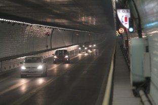 Show de fuegos artificiales en el cumpleaños del Túnel Subfluvial