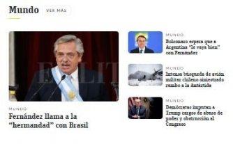 La asunción de Alberto Fernández, según los diarios de países vecinos
