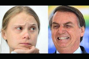 """Bolsonaro llamó """"mocosa"""" a Greta Thumberg y ella reaccionó con un gesto virtual"""