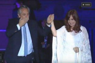 Alberto Fernández y Cristina Kirchner hablan en Plaza de Mayo