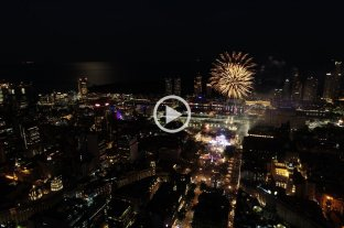 Mirá el cierre de los festejos desde el drone de El Litoral -  -