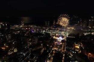 Mirá el cierre de los festejos desde el drone de El Litoral