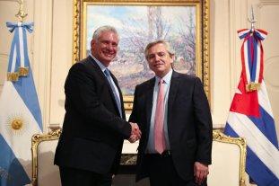 Fernández recibió en la Casa Rosada al presidente de Cuba