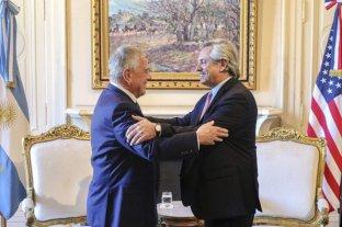 Tras el cortocircuito en la jura, Fernández almorzó con uno de los enviados de Donald Trump