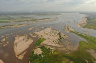 Advierten que el río puede llegar a su nivel más bajo de los últimos 40 años - Zona del delta del Saladillo Dulce hacia la laguna Setúbal.  -