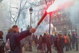 Continúan las protestas en Francia contra la reforma del sistema de jubilaciones