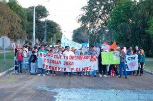 Rosalía Jara: el acusado del crimen habría abusado de ella desde niña - La comunidad de Fortín Olmos en reiteradas oportunidades realizó marchas reclamando justicia -