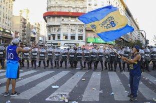 """Los festejos por el """"Día del hincha de Boca"""" volvieron a tener incidentes en el Obelisco"""