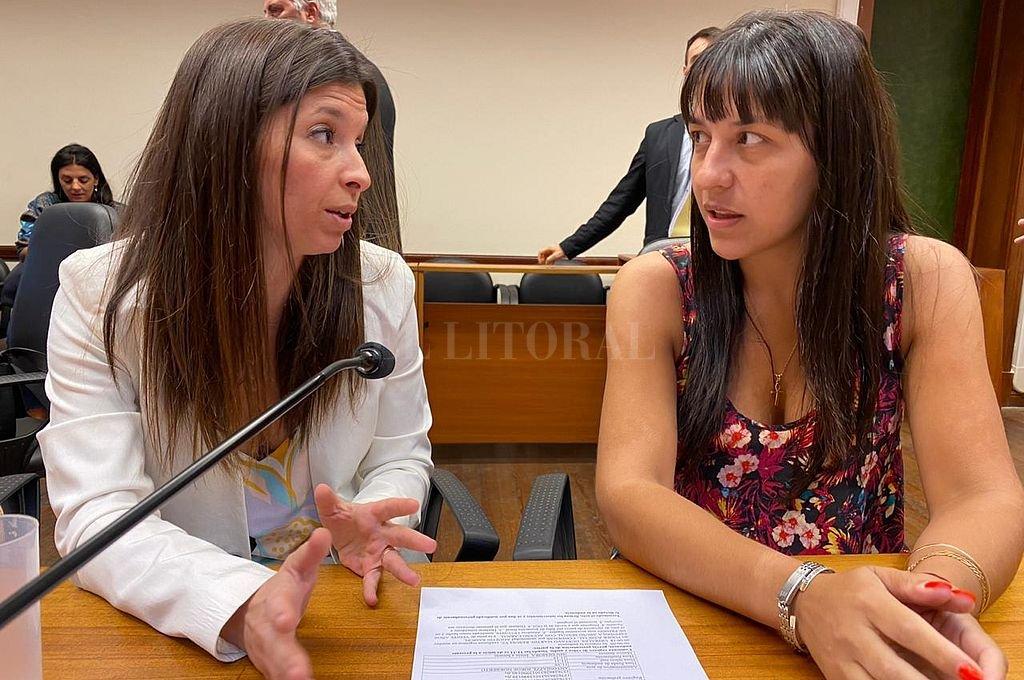 La fiscal María Gabriela Arri, que investigó el caso y quien durante el juicio oral estuvo acompañada por la fiscal de la Unidad Fiscal Especial de Violencia de Género Familiar y Sexual (GEFAS), Alejandra Del Río Ayala. Crédito: Prensa MPA