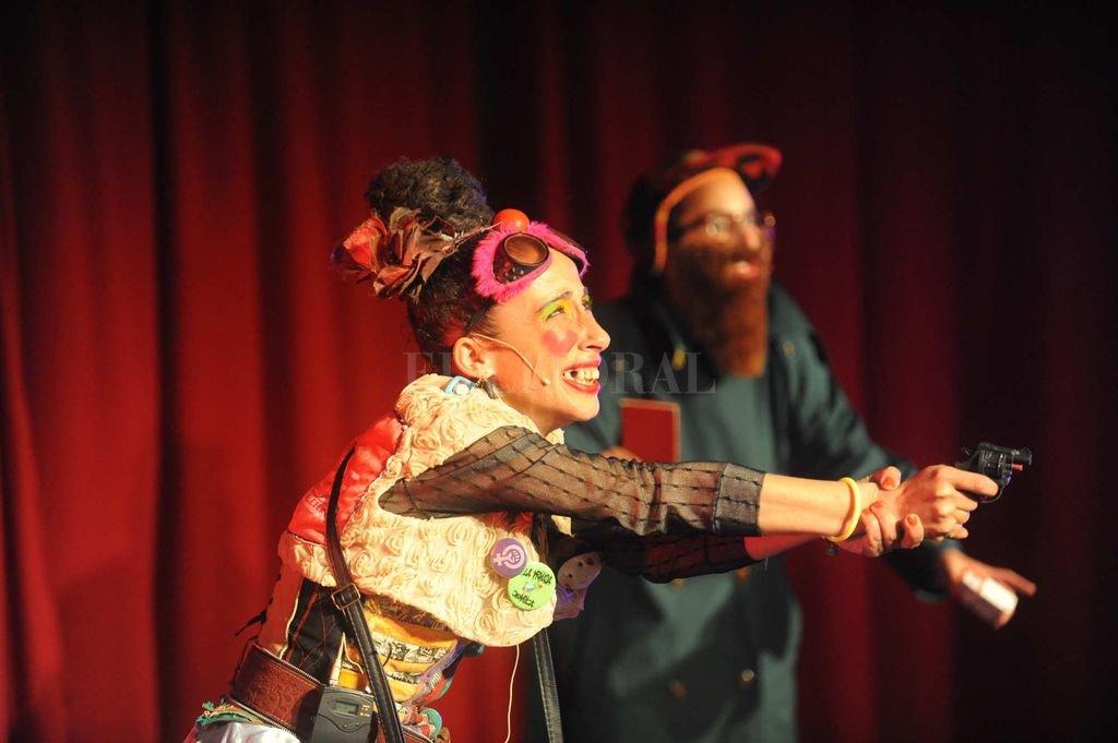 Rosa Salomón con su personaje de Lucrecia Vichenza durante la última edición del Festiclown, que se desarrolló en setiembre.  <strong>Foto:</strong> Gentileza CCP