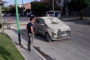 """Circulaban en su auto y les cayó """"un baño de cemento"""""""