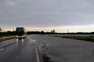 Consecuencias de la tormenta en Santa Fe: está cortada la Ruta 11 en Candioti y Nelson -  -