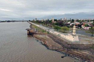 El río Paraná llegó al nivel más bajo de las últimas décadas - La bajante se hace notar en la Laguna Setúbal -