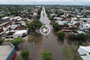 Desde el drone de El Litoral: las zonas anegadas de la ciudad -  -