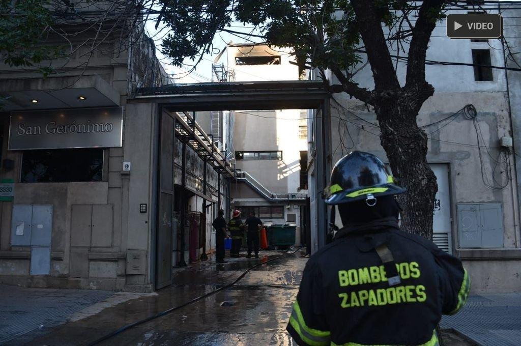 Explosión e incendio en  el sanatorio San Gerónimo -  -
