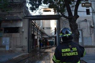 Explosión e incendio en  el sanatorio San Gerónimo -