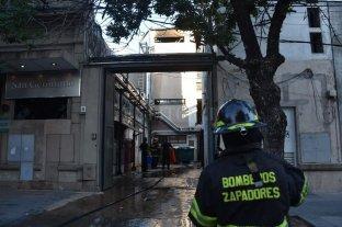 Explosión e incendio en  el sanatorio San Gerónimo