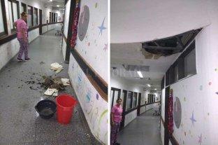 Trabajan en el hospital de niños tras la tormenta en Santa Fe