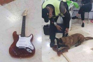 Incautaron una guitarra hecha de cocaína en el Aeropuerto Internacional de Cancún