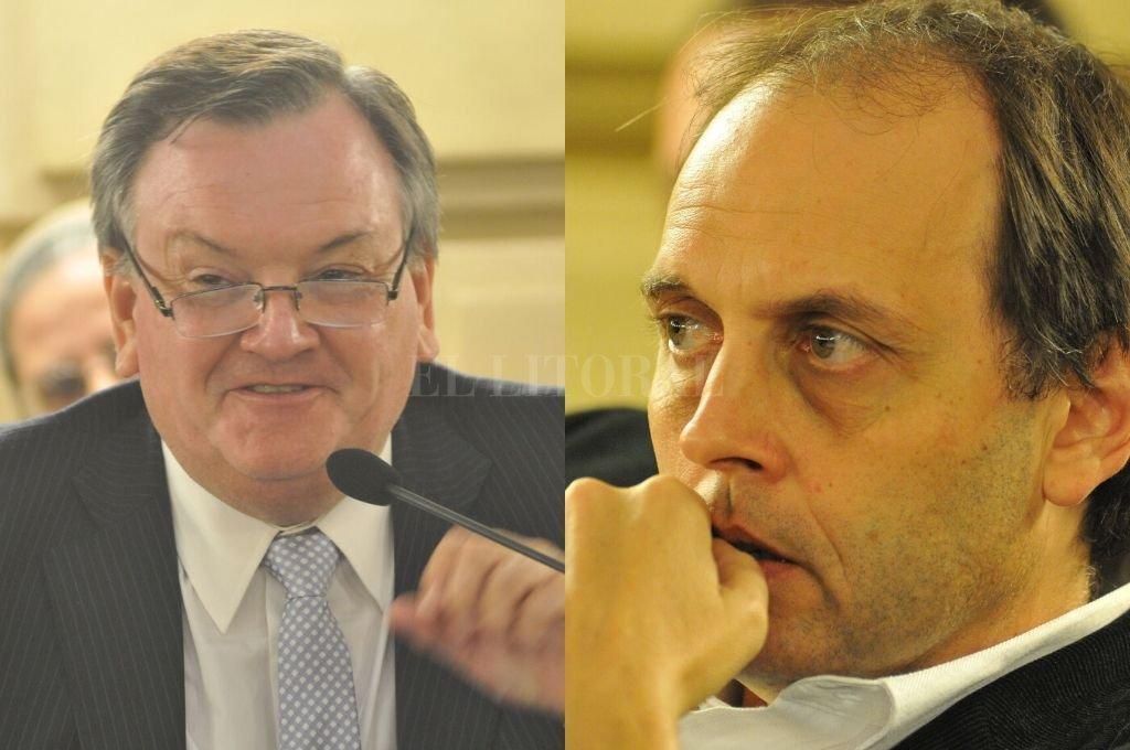 Felipe Michlig y Hugo Rasetto intercambiaron munición gruesa en la primera sesión extraordinaria convocada por Omar Perotti. <strong>Foto:</strong> Archivo El Litoral
