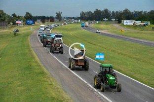 """Comenzó el """"tractorazo"""" de productores agropecuarios en el sur de Santa Fe"""