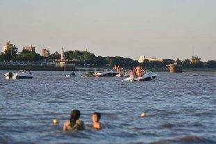 Playas de Costanera Este: sin habilitación, pero con boyado