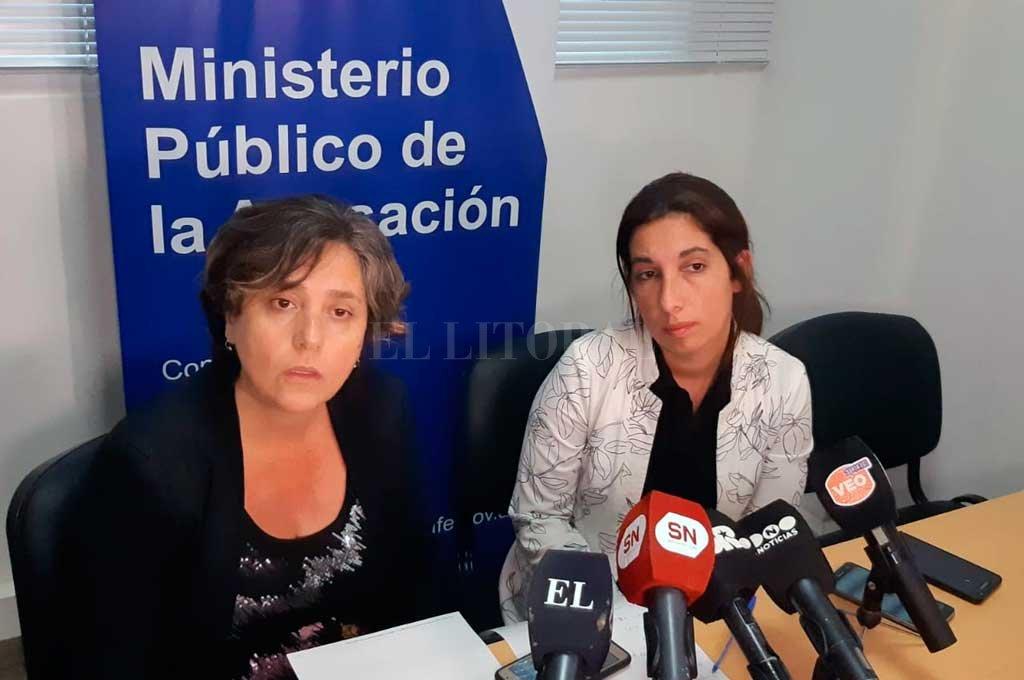 Las Fiscales Mariela Jiménez y María Laura Urquiza son quienes llevan adelante la investigación del caso. Crédito: El Litoral