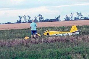 Harán peritajes en la avioneta que  cayó en un campo en Esperanza