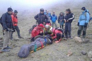 Rescataron a un andinista estadounidense que se descompensó en el Aconcagua