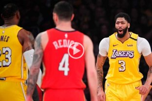 Los Lakers vencieron a New Orleans con 46 puntos de Anthony Davis