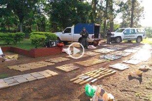 Secuestran 836 kilos de marihuana abandonada en pleno monte misionero