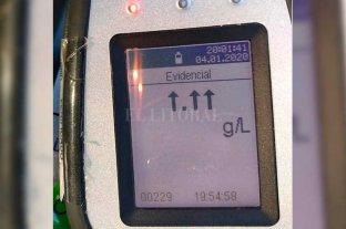 Insólito: automovilista superó el límite del aparato que mide la alcoholemia