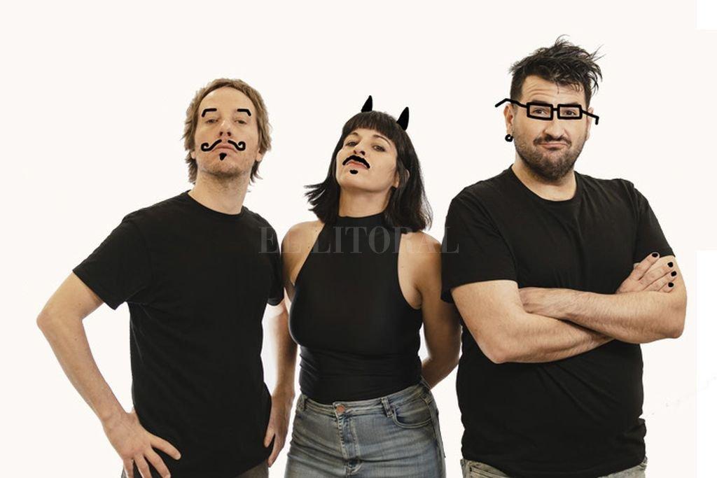 """Mariana """"Cumbi"""" Buztinza, Tomás Cutler y Gabriel Gavila presentan """"Fucking impro"""", un espectáculo interactivo. Crédito: Gentileza producción"""
